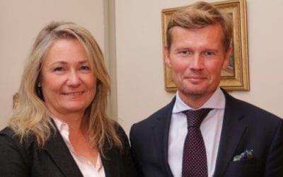 Nytt ambassadørpar og finske finanskonsern i handelsforeningen